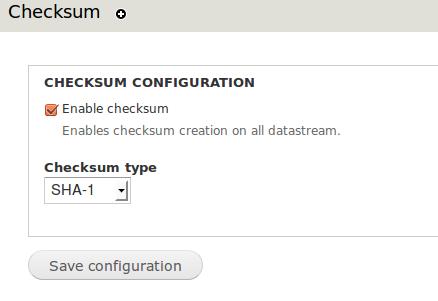 Islandora Checksum admin